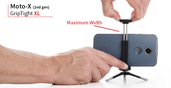 The GripTight XL the prefect smartphone mount for the Moto X 2nd Gen.