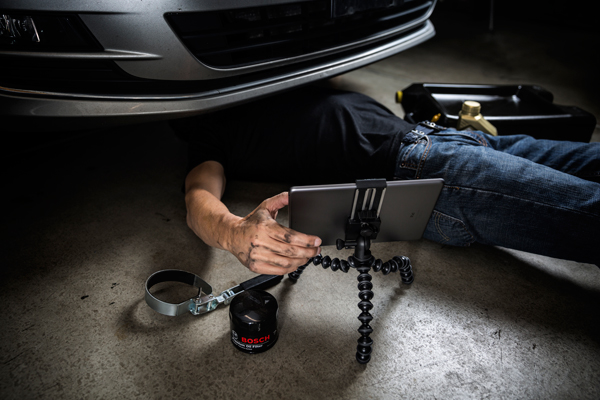 Use the GripTight GorillaPod Pro Tablet Mount to help with DIY projects