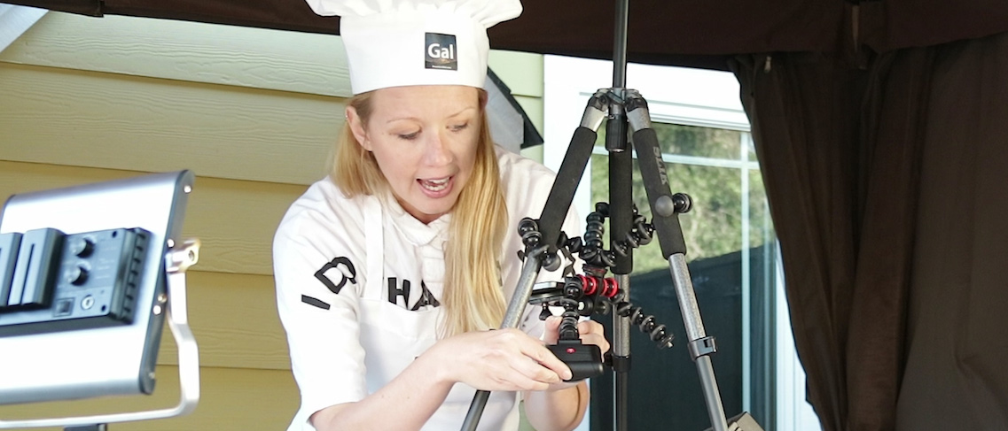 Premiere Gal Gets Cooking with the GorillaPod Mobile Rig