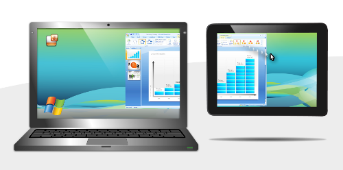 Span your Windows 7 screen onto your iPad