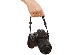 Convertible camera strap - carrier mode