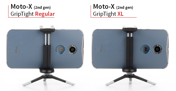 Moto X 2nd Gen with GripTight Mount Regular compared to Moto-X 2nd Gen with GripTight Mount XL