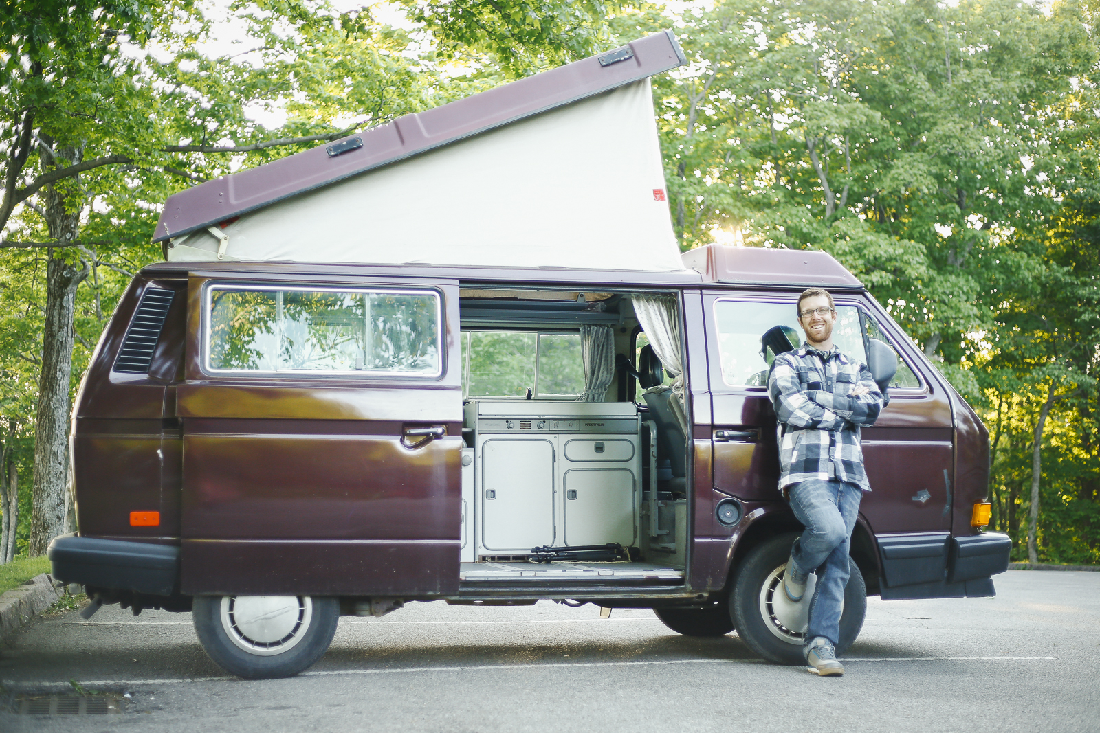Not long after the seed was planted for Searching For Sero, the ultimate adventure-mobile was purchased. A 1991 VW Westfalia Camper. Photo Tracy Guenard/Searching For Sero