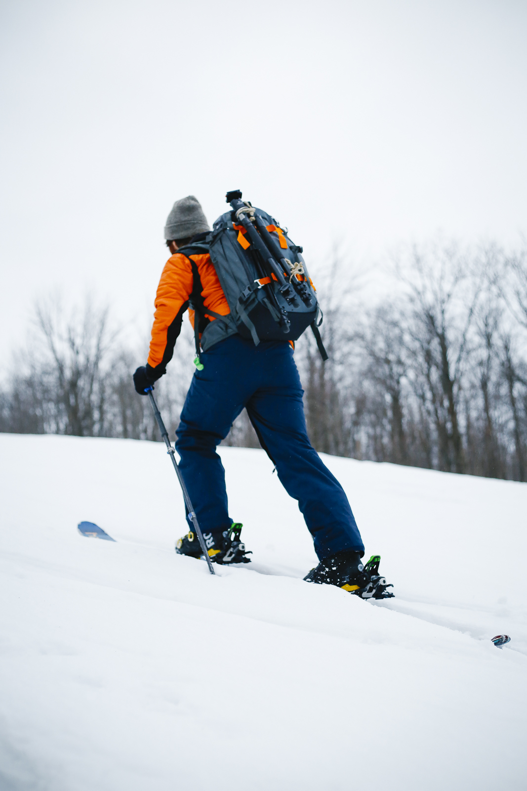 Going where no one else is, is the best. We skinned up a hill and took some ski shots one evening with the Lowepro Whistle 350.